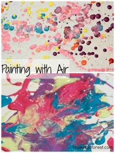 Painting with AIR ~ my kids loved this process art activity.  2 fun ways to paint with balloons!