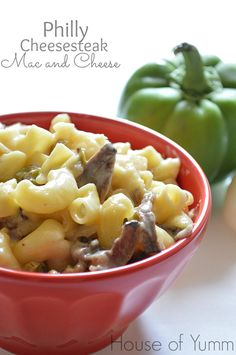 Philly Cheesesteak Mac and Cheese is the ultimate in comfort food made by combining the classic tastes of a Philadelphia Cheesesteak with Macaroni and Cheese. Ever have one of those days? Cheese Recipes, Pasta Recipes, Beef Recipes, Cooking Recipes, Yummy Recipes, Casserole Dishes, Steak Casserole, Cheesesteak, Pasta Dishes