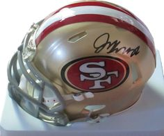 Jim Harbaugh signed SF 49ers Riddell football mini helmet w/ proof photo.  Proof photo of Jim signing will be included with your purchase along with a COA issued from Southwestconnection-Memorabilia, guaranteeing the item to pass authentication services from PSA/DNA or JSA. Free USPS shipping. www.AutographedwithProof.com is your one stop for autographed collectibles from San Francisco sports teams. Check back with us often, as we are always obtaining new items.