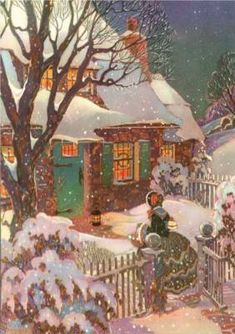 A beautiful old card....I hope Christmas never changes...It's the only Peace we have.....