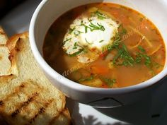 This is a soup recipe just like my grandmother cooks, it tastes like a childhood . Romania Food, Soup Recipes, Curry, Food And Drink, Lunch, Diet, Cooking, Healthy, Ethnic Recipes