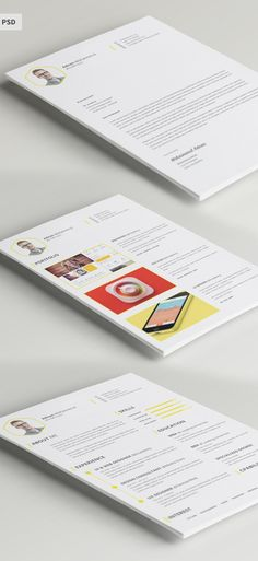 Free Resume + Cover Letter   CV Template (PSD) Free stuff - free graphic resume templates