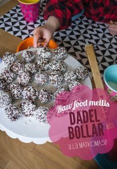 Raw food mellis - Dadelbollar - Matkoma #rawFood #dadelBollar