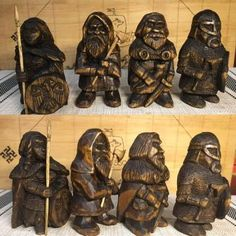 Diy Wooden Projects, Wooden Diy, Wood Carving Patterns, Whittling, Little Man, Caricature, Vikings, Board Games, Sculpting