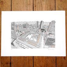 Barbican, Copper Screen-print - Limited Edition Print