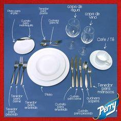 Cómo aprovechar todos los cubiertos y utensilios al servir la mesa.