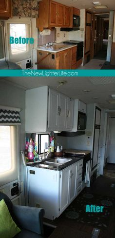 We've worked our tails off remodeling our 96′ Winnebago Adventurer. I'm happy to report that it is *almost* complete. Almost because we have light fixtures, outlets, and rugs to replace. I'd also like to do some work in the bunk room to make it more personalized and kid-friendly. I could list some more things we …
