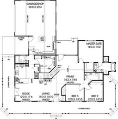 **** Carol Renee Country Style Home First Floor from houseplansandmore.com ****