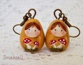 Boucles poupée Russe en Automne : Boucles d'oreille par smaksall sur ALittleMarket