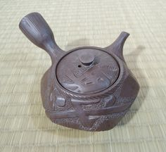 Japanese Vintage Banko Ware Small Tea Pot, Handcrafted by Mokuami