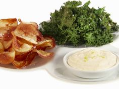 Potato and Kale Chips with Lemon Mayonnaise ~ Giada de Laurentiis