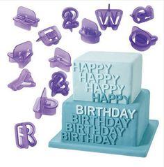 40pcs/set Alphabet Letters for Fondant Cake Decoration Mold