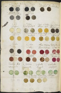 Medieval color chart