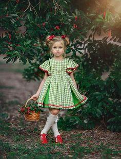 The Night Before Christmas Dress - Dollcake Yellow Flower Girl Dresses, Little Dresses, Little Girl Dresses, Girls Dresses, Little Girl Fashion, Kids Fashion, Whimsical Dress, Princess Outfits, Baby Dress