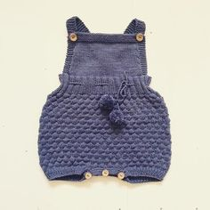 Baby knitting patterns: The Sailor Romper Suit by Sofie Bovbjerg, download on LoveKnitting
