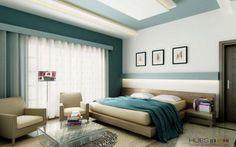 White Teal Bedroom Design