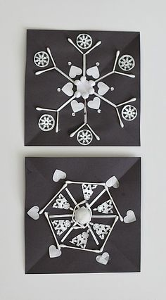 Perfect for teaching symmetry and patterns! (Winter Crafts for Kids: Symmetrical Snowflake Craft ~ BuggyandBuddy.com)