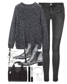 """Outfit with grey tones for autumn"" by ferned on Polyvore featuring BLK DNM, Toast, Acne Studios, Forever 21, Gucci, Monica Vinader and Topshop"