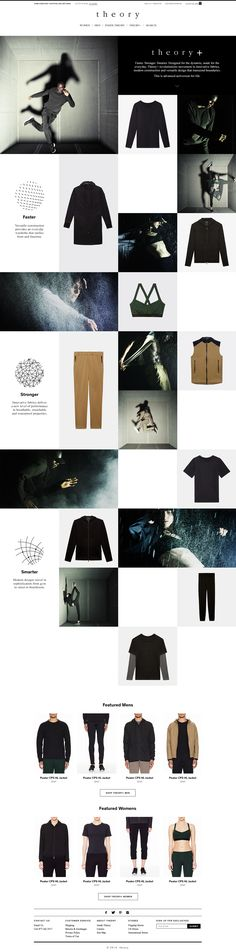 Layout for e-commerce website.