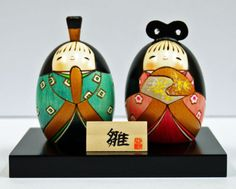 Usaburo Kokeshi Japanese Wooden Doll 9-23 Harunohanabina (Hina Ningyo Dolls)
