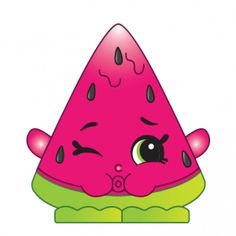 Melonie Pips (Shopkins Melonie Pips is a dark pink watermelon, puckering her lips as if to spit seeds out. Her variant is colored yellow. Melonie Pips is an ultra rare Fruit Veg Shopkin from Season One. Bolo Shopkins, Shopkins Bday, Christmas Chocolate, Christmas Star, Shopkins Characters, Shopkins Figures, Shopkins And Shoppies, Images Instagram, Rosalie