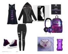 """Purple Style"" by marcythewolf on Polyvore featuring JanSport and Topshop"