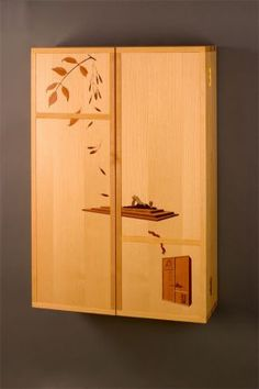 Marquetry Tool Cabinet - CLICK TO ENLARGE