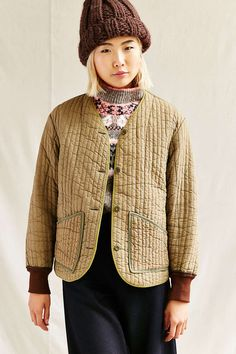 5f3bdfcb71bee Urban Renewal Vintage Green Button Front Jacket Brown Jacket, Urban Renewal,  Green Button,. Urban Outfitters