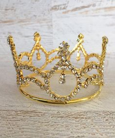 Look at this Chicaboo Gold Mini Crown Photography Prop on #zulily today!