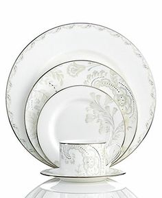 Marchesa by Lenox Dinnerware, Paisley Bloom 5 Piece Place Setting - Fine China - Dining & Entertaining - Macy's
