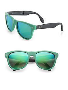 Ray-Ban Folding Round Rubber Wayfarer Sunglasses Sun With Sunglasses 8fafe64ce5