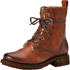 Frye - Valerie Lace Up Shearling Boot - Women's - Cognac Vintage/Shearling