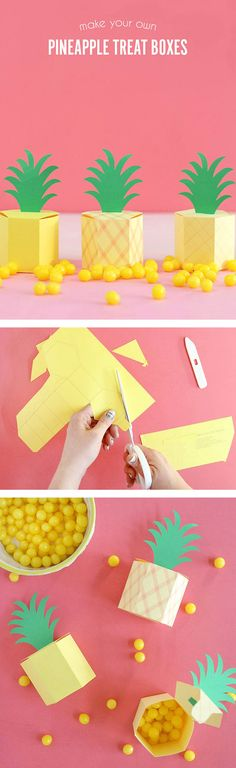 DIY Pineapple Box -