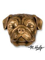 The Pug Door Knocker Bronze