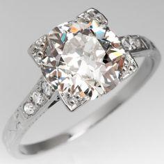 Vintage Engagement Rings   Antique Diamond Rings   EraGem Antique Wedding Rings, Antique Diamond Rings, Antique Engagement Rings, Vintage Diamond, Best Engagement Rings, Deco Engagement Ring, Art Nouveau, Art Deco Jewelry, Vintage Jewelry