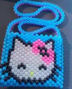 Blue glow in the dark HK purse