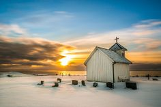 Winter at Varhaug old church [Explore Kirkenes, Building Photography, Church Music, Old Churches, Church Building, Place Of Worship, Kirchen, Beautiful Christmas, Pretty Pictures