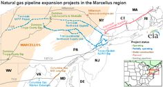 Natural gas pipeline expansion projects in the Marcellus Shale region