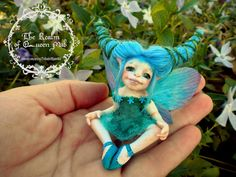 Classic Fairies. Lily the fairy. Fantasy Art figure by Silver Berry. Ooak Art Doll polymer clay One of a Kind Fantasy Sculpture.