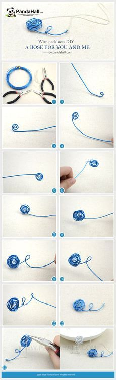 Jewelry Making Tutorial--DIY Wire Wrapped Rose Necklace Pendant | PandaHall Beads Jewelry Blog