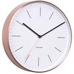 Horloge murale scandinave en cuivre hubsch d co pinterest - Horloge murale blanche ...