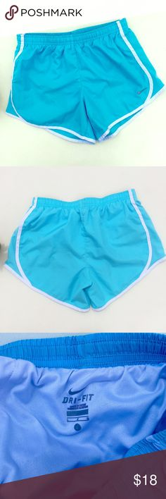 Nike Running Shorts in Light Blue Runs small and will fit S or M better. In great preloved condition. Nike Shorts
