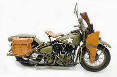 1942 Harley-Davidson WLA World War II - Custom Motorcycles & Classic Motorcycles - BikeGlam Harley Davidson Wla, Harley Davidson Engines, Harley Davidson Motorcycles, Vintage Bikes, Vintage Motorcycles, Hd Motorcycles, Womens Motorcycle Helmets, Motorcycle Girls, Motorcycle Style