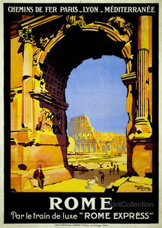 Rome Train Travel poster - looking to replace my wine posters/frames with travel ones...