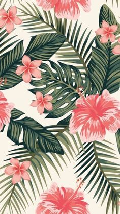 Pin By Debbie Pemberthy On Playroom In 2019 Cute Wallpaper - Tier Hintergrund Iphone Wallpaper Pastel, Flower Iphone Wallpaper, Plant Wallpaper, Tropical Wallpaper, Aesthetic Pastel Wallpaper, Iphone Background Wallpaper, Aesthetic Wallpapers, Flamingo Wallpaper, Spring Wallpaper