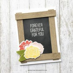 use chalkboard paper, stamp woodgrain background stamp on kraft paper with dark brown ink then cut into strips, stamp and cut out florals and leaves from stamp sets already own. Diy Pallet Sofa, Pallet Art, Diy Pallet Projects, Pallet Ideas, Simple Card Designs, Chalk Holder, Pallet Wall Shelves, Diy Outdoor Table, Diy Planter Box