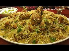 Hyderabadi Chicken Dum Biryani is a World famous Dish, it is made using chicken which is marinated then cooked and then is added to cooked rice and again coo. Rice Recipes, Indian Food Recipes, Chicken Recipes, Cooking Recipes, Ethnic Recipes, Recipies, Bangladeshi Food, Dum Biryani, Kitchens