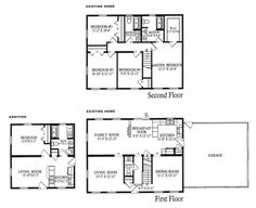 Simple 2 story house floor plans home decor ideas for House plans with future additions