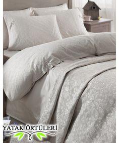 Karaca home yatak örtüsü Mine Krem