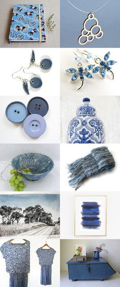 Beautiful Blues . . . by Bev on Etsy--Pinned with TreasuryPin.com